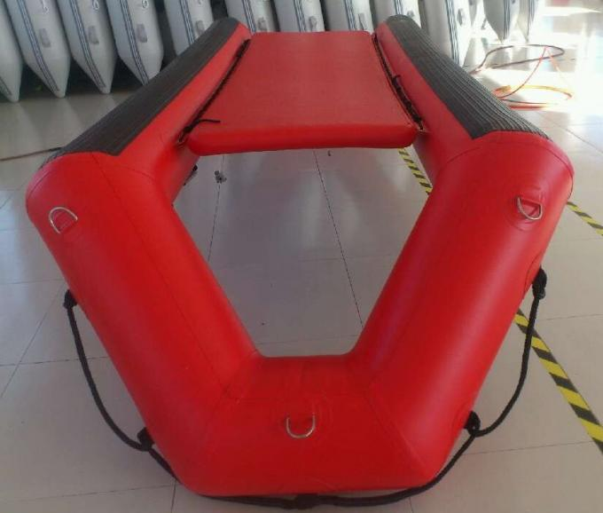 High Performance Inflatable Rescue Boat , Red Towable Army Inflatable Boats