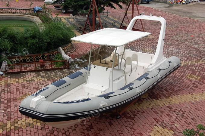 French Orca Hypalon Large RIB Boat 8.3m Length Dark With Twin 225HP Motor