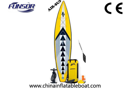 China Portable Inflatable Racing Touring board For Single Person 3 x 0.72m yellow color supplier