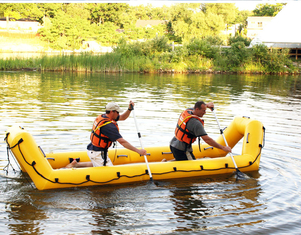 China Portable Lightweight PVC Inflatable Rescue Boat For Firefighting supplier