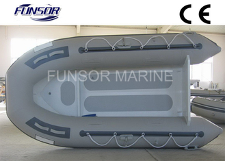 China Gray Aluminum RIB Boat Foldable Inflatable Boat Without Deck light weight supplier