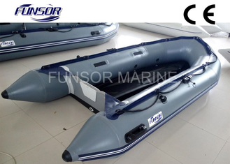 China PVC Coated Fabric Aluminum Floor Foldable Inflatable Boat / Dinghy supplier
