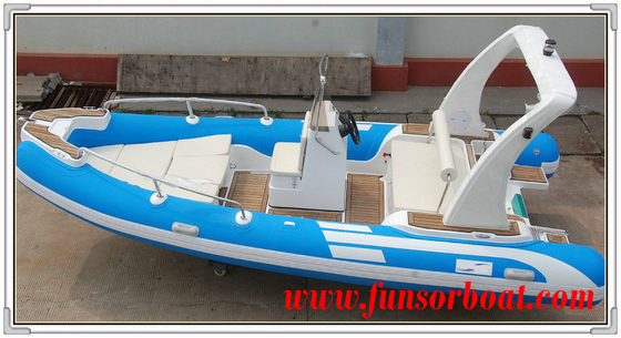 Durable 18 Foot Hard Bottom Inflatable Rib Boats 10 Person Inflatable Boat