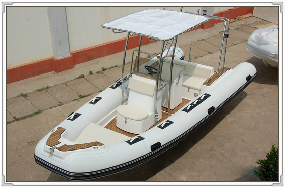 China Comfortable White color Towable Inflatable River Boats RHIB Boat 5.8m length RIB580A supplier