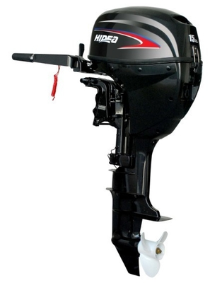 China Manual / Electric Starter Fishing Boat Motor Engine , 15hp 4 Stroke Outboard Engine supplier