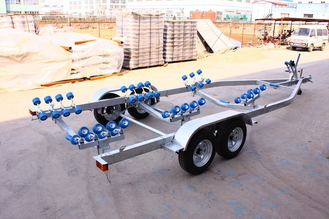 China Hot Dip Galvanized Double SHAFT 8.65m Boat Trailers FRPYS600DR supplier