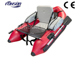 Small Dinghy Belly Boat Inflatable Pontoon Fishing Boat for Single Person