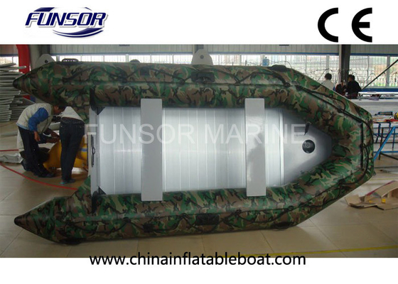 China Camouflage Navy Military Inflatable Boats With 3.6 Meter Length Funsor Brand supplier