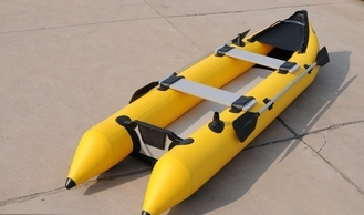 2 Person 0.9mm PVC Inflatable Sea Kayak For Eskimo Hunter , CE Certificate