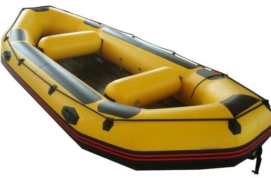 Yellow Small PVC / Hypalon Rafting Inflatable Drift Boat For Summer
