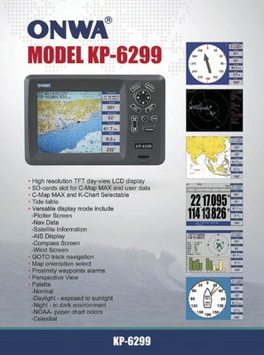Boats GPS KP-6299 LCD Display SD Card Global Sea Map Inflatable Boat parts