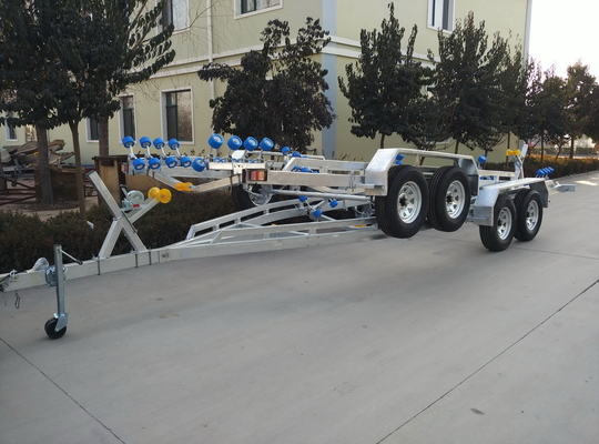 RIB-850 Inflatable Boat Trailer With Brake Two Shaft Hot Dip Galvanized Process