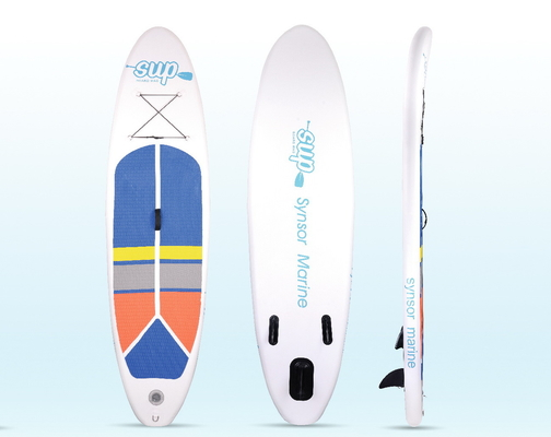 Funsor Inflatable Stand Up Paddle Board , Surfing Blow Up Paddle Board 22 PSI