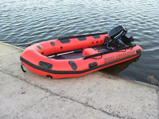 Fast Inflation Red Color Water Rescue Boats 3.8 Meter For Fire Station