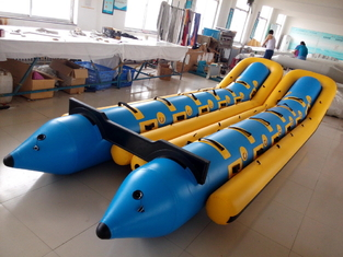 Large Custom 12 Person Inflatable Banana Boat For Water Entertainment