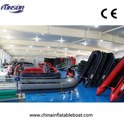 CE Certificate And Pvc Material 580 RIB Inflatable Boat With Engine , Rigid Hull Inflatable