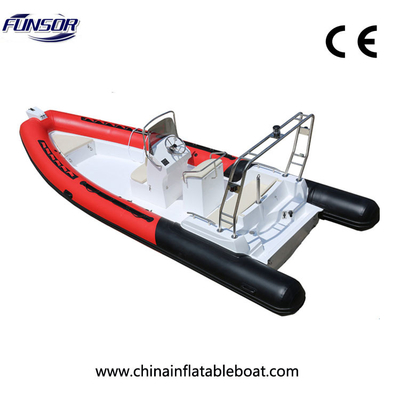 Entertainment Hypalon R680 Rigid Inflatable Boat , Fishing Inflatable Dive Boat