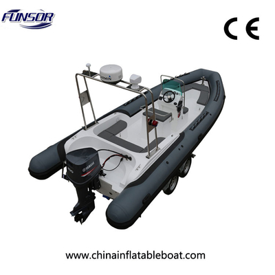 China FHH R760 Water Rafting Air Folding Rigid Hulled Inflatable Boat For Entertainment supplier