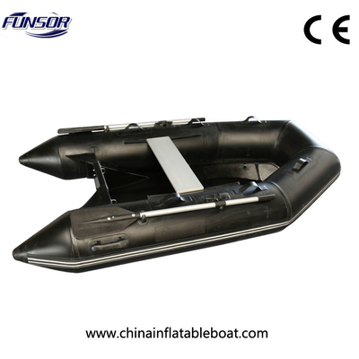 Black Small Size Rib Rigid Inflatable Boat For Familly Go Out Or Fishing