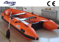 Marine Aluminum Floor Inflatable Rescue Boat Orange For 6 Person