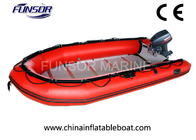 Large Rubber Inflatable Rescue Boat Six Person Inflatable Boats With Plywood Floor