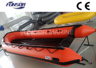 China Heavy Duty Large Foldable Inflatable Boat 10 Person With 5 Chambers Orange color factory