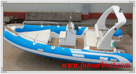 China Durable 18 Foot Hard Bottom Inflatable Rib Boats 10 Person Inflatable Boat factory