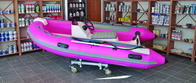 China Semi - FRP Inflatable RIB Boats Tube 3.3 Meter Length Pink Color factory