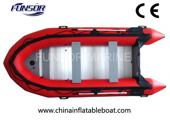 Heavy Duty PVC Foldable Inflatable Boat 6 Person Inflatable Dinghy With Motor