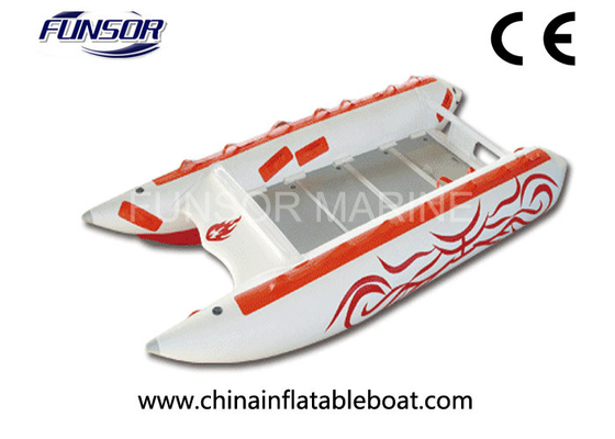 Comfortable Three Person 3.8m High Speed Inflatable Boats For Fishing