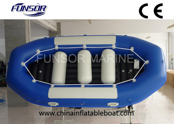 Heavy Duty 4 Person Inflatable Drift Boat Inflatable Fishing Dinghy Weight 58kg