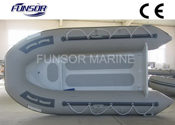Gray Aluminum RIB Boat Foldable Inflatable Boat Without Deck light weight