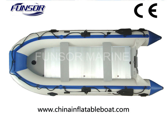 China 6 Person Pontoon Foldable Inflatable Boat With Separated Chamber distributor