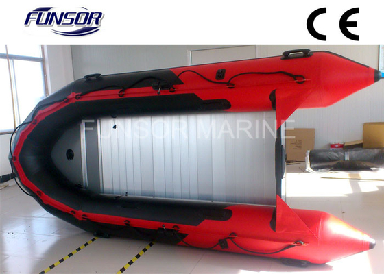 China Red PVC Foldable Inflatable Boat Aluminum Floor Inflatable Boats CE / ISO distributor