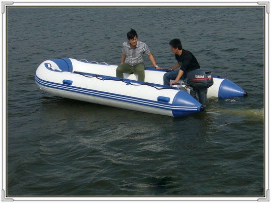 China Professional 7 Person PVC Folding Inflatable Boat Inflatable Fishing Dinghy distributor