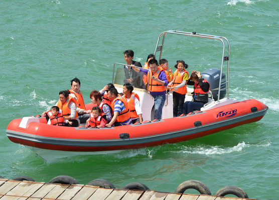China Heavy Duty Inflatable RIB Boats Inflatable River Boats For Kids / Adults distributor