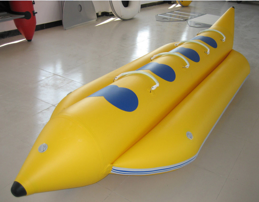 0.9mm PVC Inflatable Banana Boat Four Person Inflatable Boat For Lake