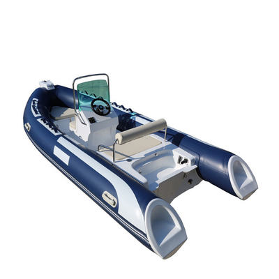 China Hypalon Or PVC RIB 480B Rigid Inflatable Boat With Outboard , Rigid Inflatable Dinghy factory