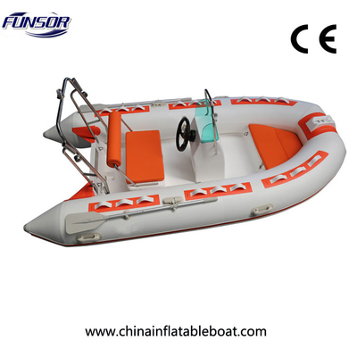 China Three Point Six Meter Black Rigid Inflatable Boat For Entertainment And Fishing factory