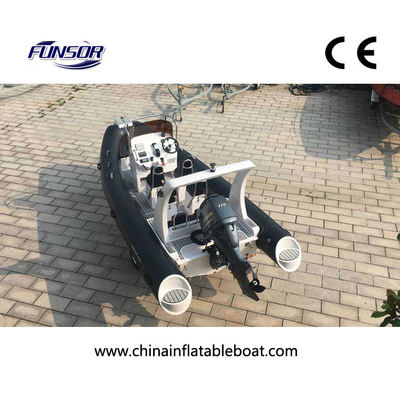 China CE Approval FQB 580B PVC RIB Rigid Inflatable Boat With Motor For Fishing factory