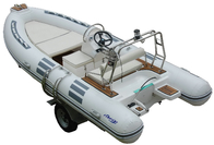 Hand Made FRP Inflatable RIB Boats , Deep - V Fiberglass Hull Inflatable Fishing Dinghy